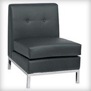 Modular Armless Black - Seating