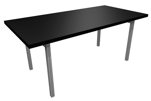 Rentals Tables Conference Table 72x36 Black