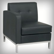 Modular Left Arm Black - Seating