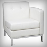 Modular Right Arm White - Seating