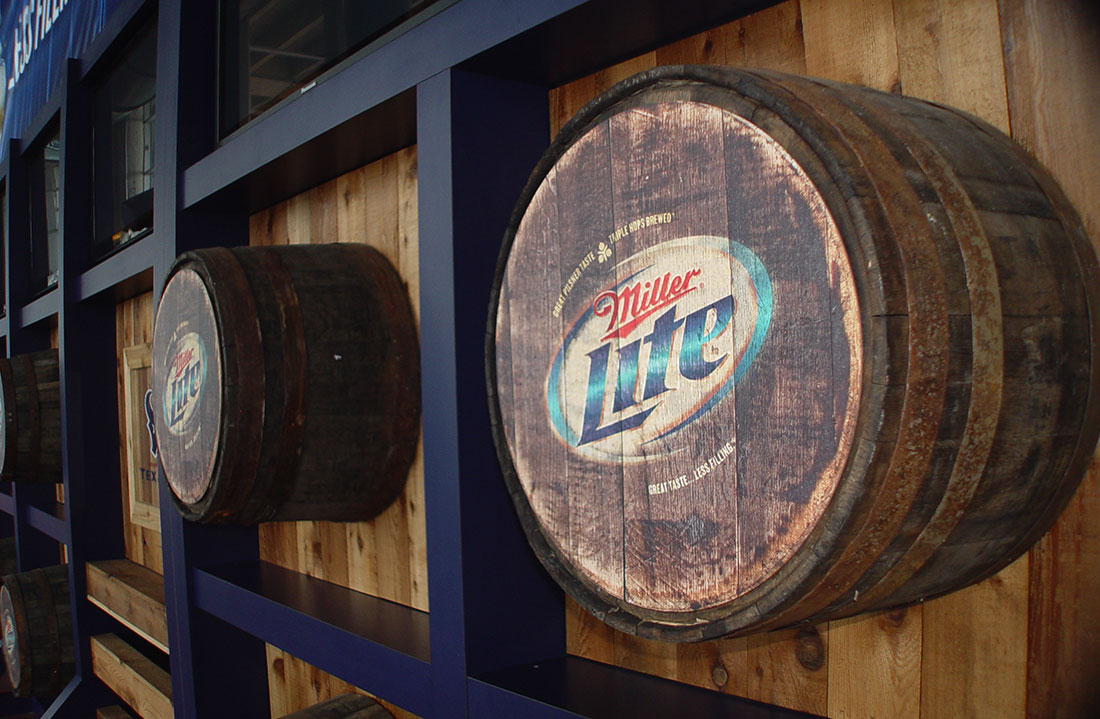 Miller Lite Bull Pen Party Deck