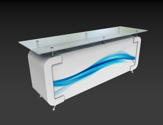 Rentals Counters  Plexi Top Quad Door Counter