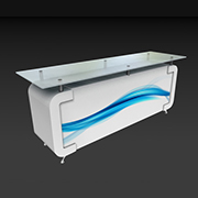 Plexi Top Quad Door Counter - Counters
