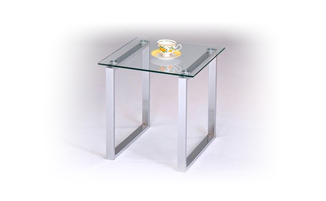 Rentals Tables Glass and Chrome End Table