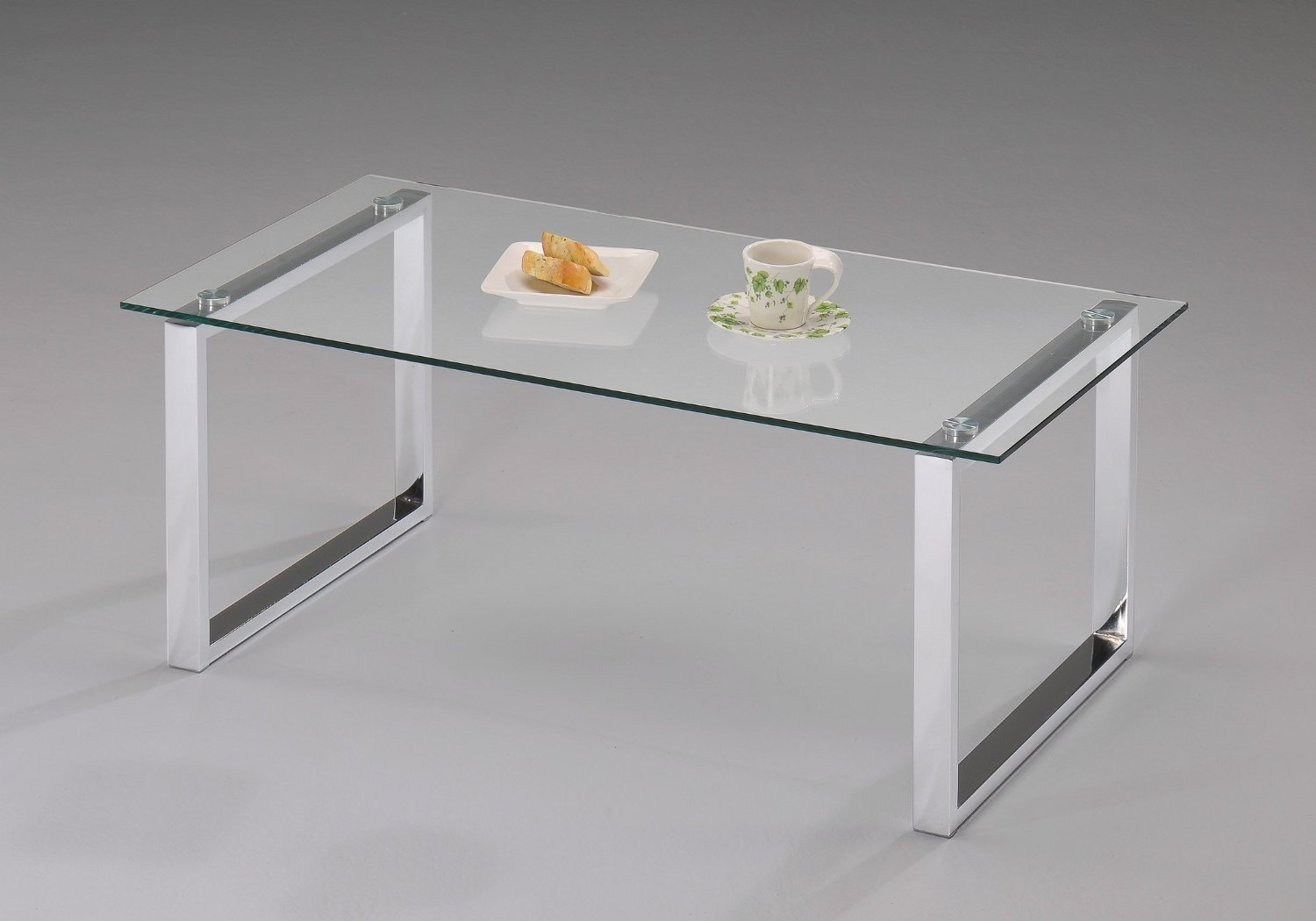 Rentals Tables Glass and Chrome Coffee Table