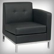 Modular Right Arm Black - Seating