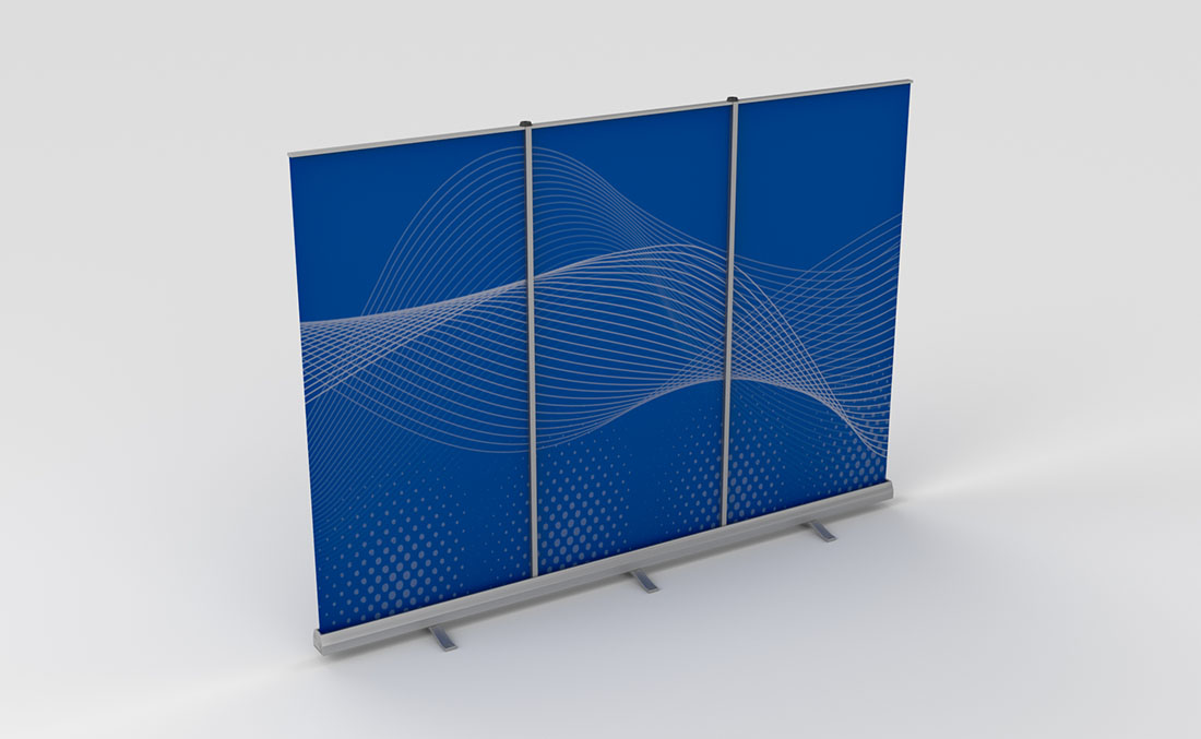 Exhibits Portables Banner Stand Backwall