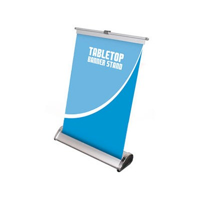 "Exhibits Portables 8.125""W x 11.5\""H Tabletop Banner Stand"