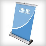 "Exhibits Portables 8.125""W x 11.5""H Tabletop Banner Stand"