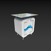 Plexi Top Single Door Counter - Counters