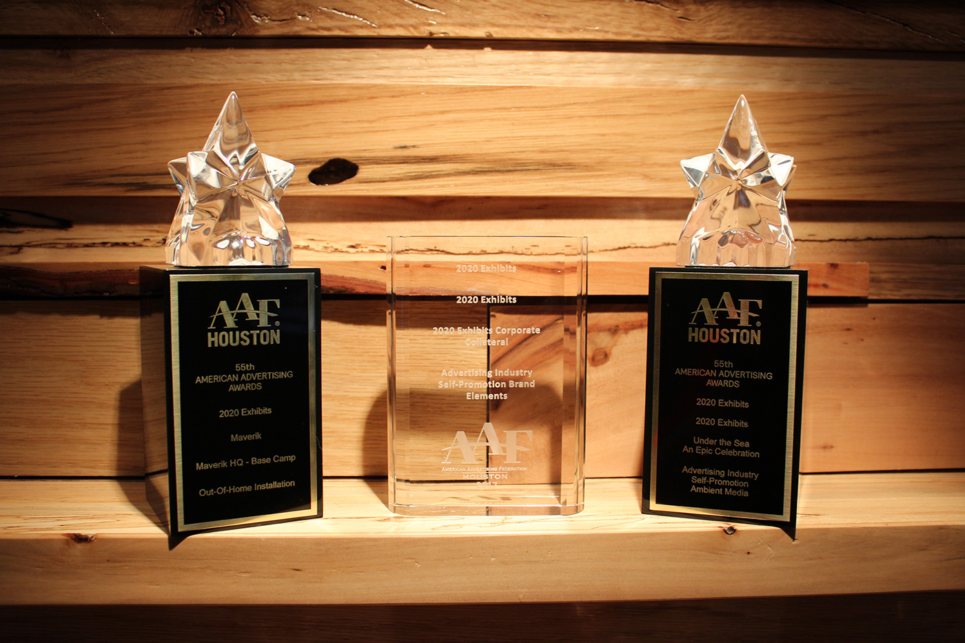 2020 Exhibits Wins Gold and Silver ADDYs at the 2017 American Ad Federation ADDY Awards