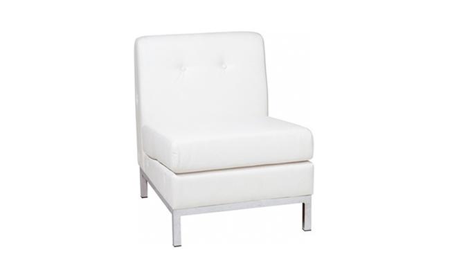 Rentals Seating Modular Armless White