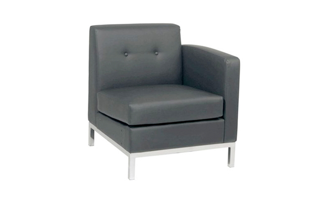 Rentals Seating Modular Right Arm Black